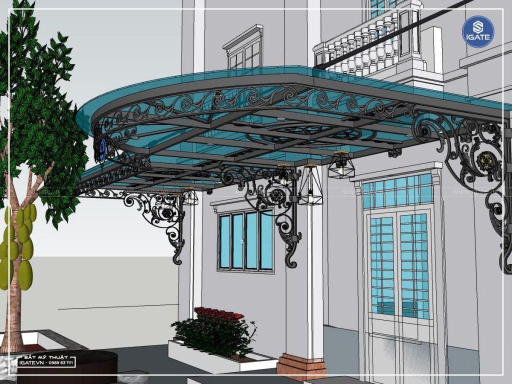 mái kính thiết kế 3D 1