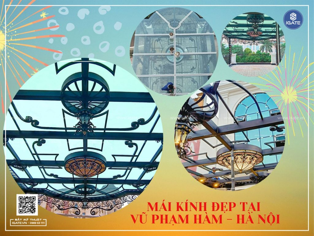 Làm mái kính đẹp tại Hà Nội